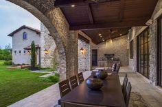 Architecture Home Rustic villa patio