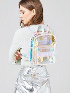 Skinnydip London Clear Holo Backpack