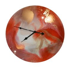 45cm RESIN CLOCK by DebsAbstractDesigns on Etsy