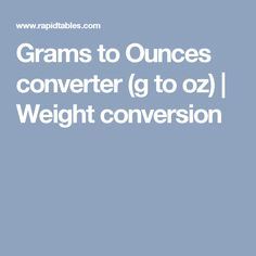Grams to Ounces converter (g to oz) | Weight conversion