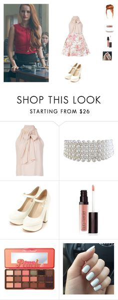 """""""hanging with Cheryl Blossom"""" by unicorn-923 ❤ liked on Polyvore featuring Alice + Olivia, Miss Selfridge, Marina J., Laura Mercier and Too Faced Cosmetics"""