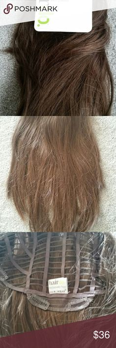 """Jessica Simpson 22"""" Straight layered Clip-on hair Jessica Simpson 22"""" Straight layered Clip-on Extensions HairDo buttered toast which is brown  not used but no box see picture Jessica Simpson Other"""