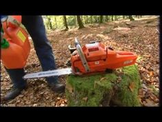▶ How to work with a chainsaw - Tutorial from Husqvarna - YouTube
