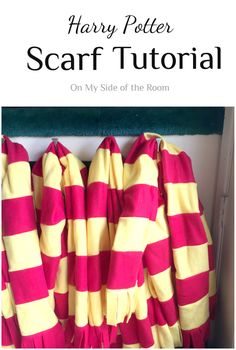Learn how to make a Harry Potter Scarf of your very own. Simple easy to follow instructions with little sewing involved. A great beginners project!