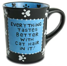 cat hair mug - cute gifts for cat lovers