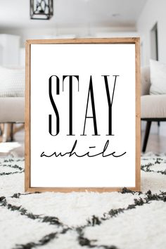 Stay awhile- READ ITEM DETAILS by SincerelyUsShop on Etsy https://www.etsy.com/listing/290303515/stay-awhile-read-item-details