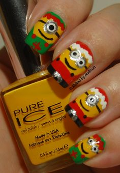 Polished By Audison: 12 Days Of Christmas Nail Art Challenge   Day 4   Santa and Elves   100th Post