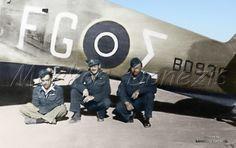EBA - RHAF.  Hawker Hurricane Mk.IIb,  335th (Greek) Sq, Squadron Leader X. Varvaressos, SouthAfrican Lieutenant Colonel D.H Loftus and  Squadron Leader J. Kellas. 6  September 1942.  by Markos Danezis