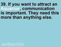 Communication is important...