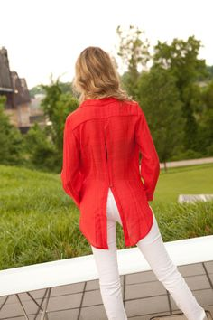 Open back Red Tunic. available at biminibutterfly.com