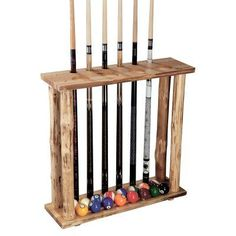 Rush Creek Floor Cue Rack 37 0014 Log Furniture Pool Table Room