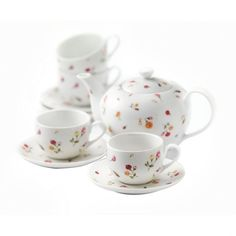 9 Piece Country Rose Buds Tea Set