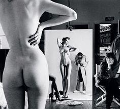 Self portrait with wife and models Parigi, 1981 Helmut Newton