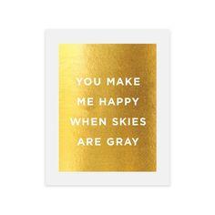 Gray Skies Print