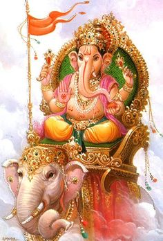 Looking for Mantras of Lord Ganesha for removing Obstacles that are blocking your path of success? Given are Ganapati Siddhi Mantras, its Benefits, Meaning, Symbolism and more information on Vinayaka. Pintura Ganesha, Arte Ganesha, Sri Ganesh, Ganesh Idol, Ganesh Images, Ganesha Pictures, Lord Ganesha Mantra, Ganesh Lord, Lord Shiva