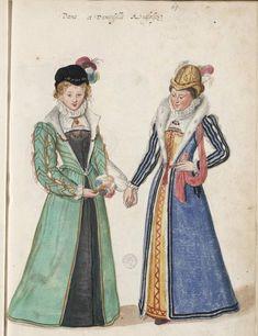 Lucas DeHeere sketchbook, 1573-1575, #71, English Women