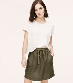 Thumbnail Image of Primary Image of Linen Utility Skirt