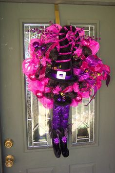 Witchy Halloween Deco Wreath by WreathsByDiana on Etsy. , via Etsy.