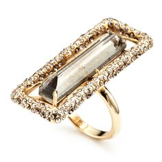 Delano gold skinny baguette #ring, 'New Miss Haversham Collection by Alexis Bittar