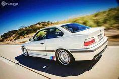 BMW E36 M3 white with ///M stripe
