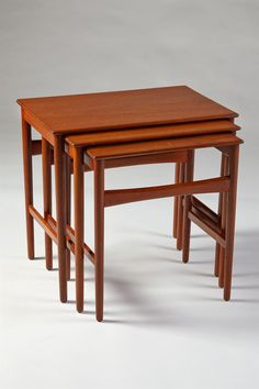 andreas tuck nesting teak tables | 1950s | #vintage #1950s #home
