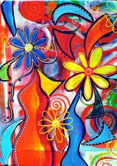 Beautiful! #art #colorful #flowers