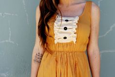 Give Your Dress a Vintage-Inspired Makeover Just Like That via Brit + Co.