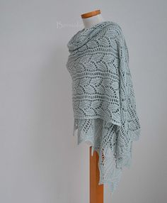 848 Jade green lace knitted shawl | Flickr - Photo Sharing!