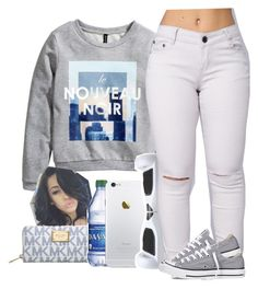 """""""April 9, 2016"""" by uniquee-beauty ❤ liked on Polyvore featuring H&M, Michael Kors and Converse"""