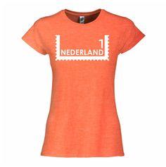 Postzegel portret koningsdag T-shirt - http://www.digitransfer.info/shop/dames-t-shirt-ronde-hals-koningsdag-3250#3250_2218