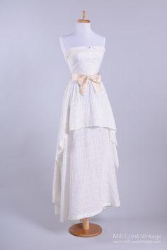 1950's Eyelet Sweetheart Vintage Wedding Dress