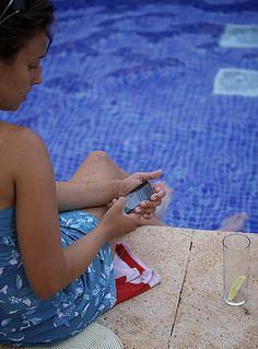 Twitter en la piscina