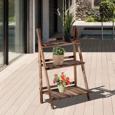Outsunny-Flower-Pot-Stand-3-Tier-Shelves-Garden-Wooden-Display-Ladder-Decor
