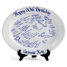 Signature Birthday Platter Birthday Plate, Birthday Gifts, Wall E, Platter, Stoneware, Celebration, Decorative Plates, Ceramics, Birthday Display Board