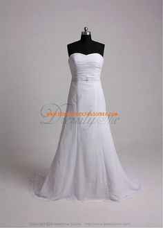 Beautiful Elegant Exquisite Sheath Sweetheart Chiffon Wedding Dress In Great Handwork