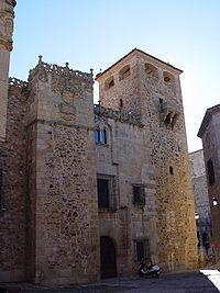 El Palacio de los Golfines de Abajo es un edificio situado en el recinto monumental de la ciudad de Cáceres, España. Fue construido por la rama de los Golfín que se instaló en la ciudad inmediatamente tras su reconquista.
