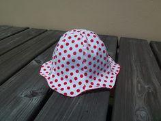 Sonnenhut z.T. aus Herrenhemd / Sun hat parly made from men's shirt / Upcycling