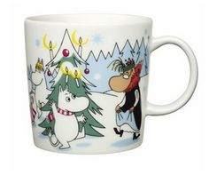 Muumimuki, -kulho ja minimukit, talvi 2013 / Moomin winter mug, bowl and minimugs 2013