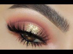 Cranberry Glitter || Huda Beauty Desert Dusk Palette - YouTube