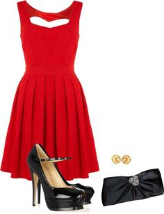 Cute Christmas Party Outfit With Black Stockings Outfits