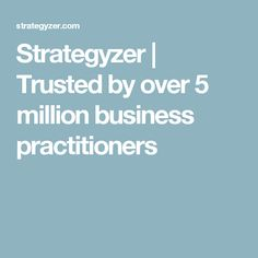 Strategyzer Trusted By Over 5 Million Business Practitioners Innovation Strategy Business Model Canvas New Product Development