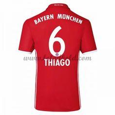 Billige Fodboldtrøjer Bayern Munich 2016-17 Thiago 6 Kortærmet Hjemmebanetrøje