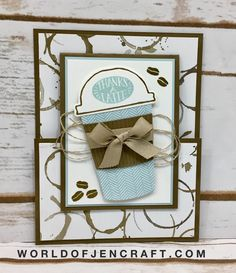 Coffee Cafe, Coffee Cup Framelits, Coffee Break DSP, Joy Fold Card, Stampin' Up!