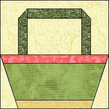 Block of Day for January 03, 2016 - Picnic Basket- foundation piecing ...The pattern may be downloaded until: Sunday, January 31, 2016.