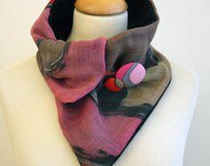 Cuello de lino y algodón pintado a mano-Cuello de forro por gilbea