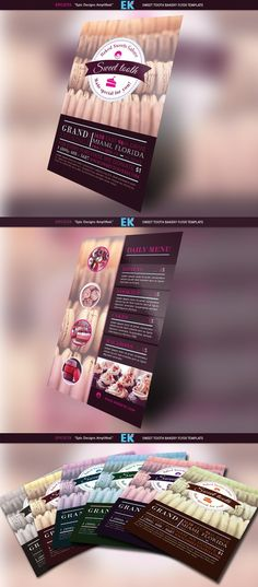 Sweet Tooth Bakery Flyer Template. Flyer Templates. $9.00