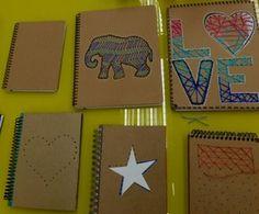 Linha, agulha e criatividade: aprenda maneira simples para customizar cadernos  (Foto: Leonardo Arromba/Gshow)