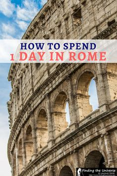 A detailed guide to spending a day in Rome, including a step by step itinerary, tips on getting around, suggested tours, and money saving tips! Rome In A Day, Day Trips From Rome, Italy Travel Tips, Rome Travel, Travel Destinations, Rome Winter, Weekend City Breaks, Rome Itinerary, European City Breaks