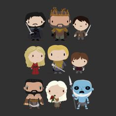 Game of Thrones Characters in Chibi Art Style #asoiaf #GOTSeason4