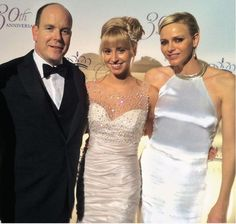 TSH Prince Albert and Princess Charlene pose with his daughter, Jazmin Grace Grimaldi, at the Princess Grace Awards in New York City on October 22, 2012.